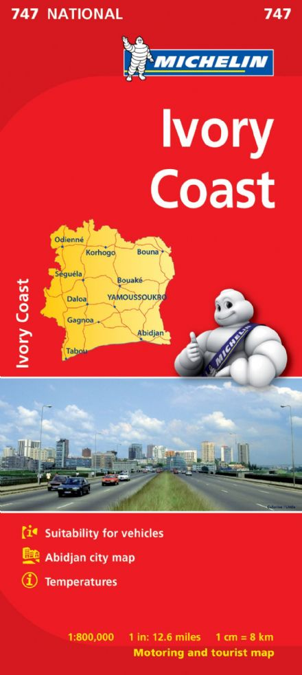 Ivory Coast - Michelin National Map 747